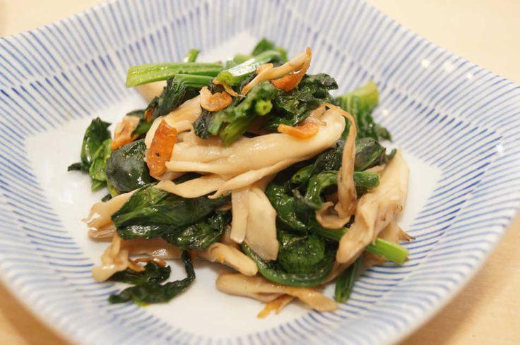 お店の味を再現!決め手は干しエビにあり♩『ほうれん草と舞茸の中華炒め』レシピ