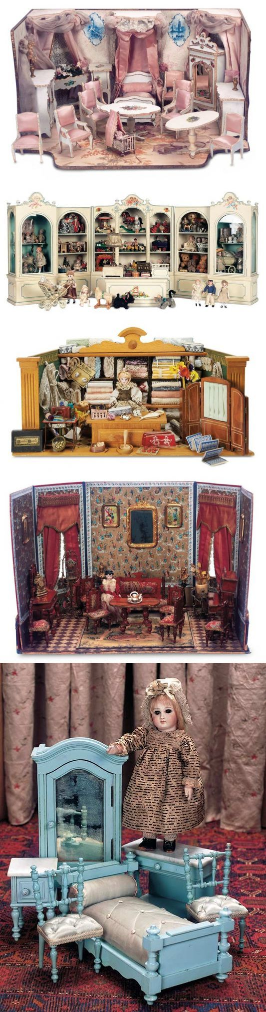 Antiquarian toys. Chast1. Doll lodges, furniture, ware.