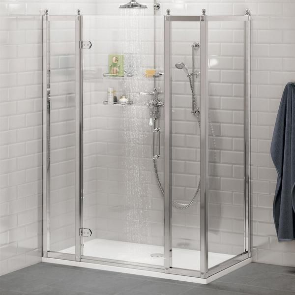 Burlington Hinged Shower Door With In Line Panel S Side Panel Without Tray Bathroomideas Bathroomdecor Bathroomremodel Sh Shower Doors Shower Enclosure Shower