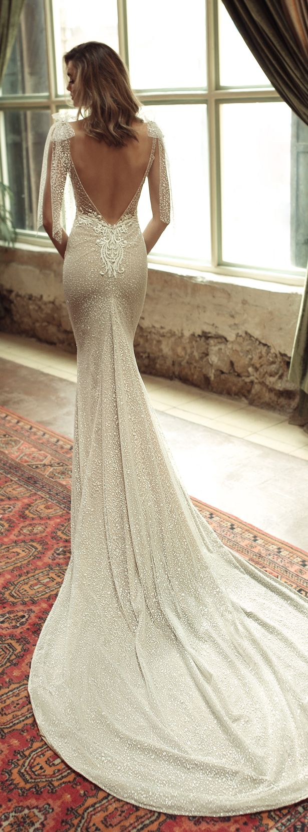 Wedding Dress by Julie Vino 2017 Romanzo Collection | Fitted bridal gown with deep back