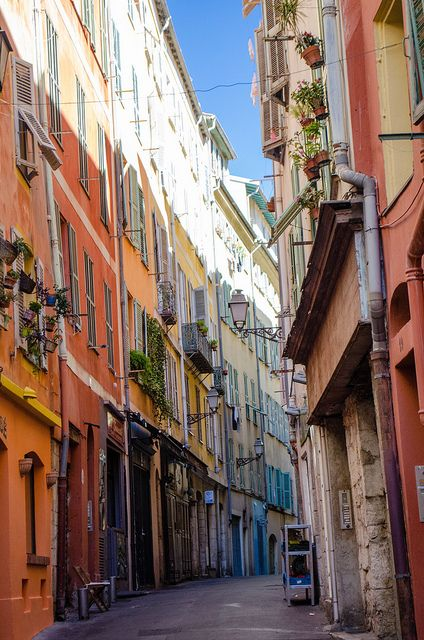 Streets in Nice, France
