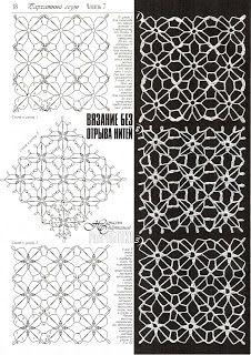 SOLO PUNTOS: crochet cuadrados