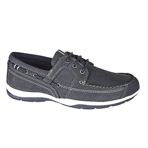 Private Brand Herren Mokassins Lace echtes Leder Casual Schuhe Größe, [Navy], [UK 8/EU 42] - http://on-line-kaufen.de/private-brand/42-eu-8-uk-private-brand-herren-mokassins-slipper