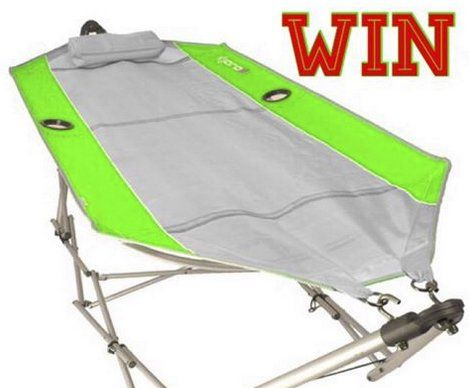 Enter to win the $150.00 portable backpack hammock that you can take anywhere: from the tailgate to the beach! This hammock is also rust proof, enter now.