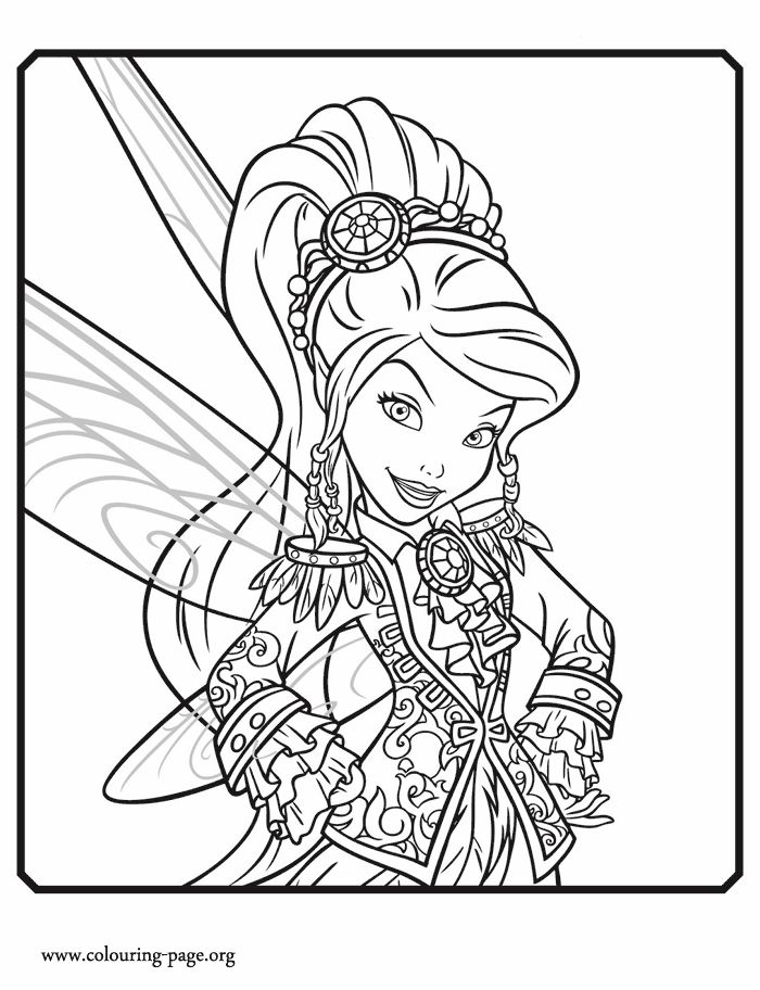 Vidia is a fairy and character from Disney movie Tinkerbell and the Pirate Fairy. Enjoy this awesome Disney Fairies coloring page and have fun!