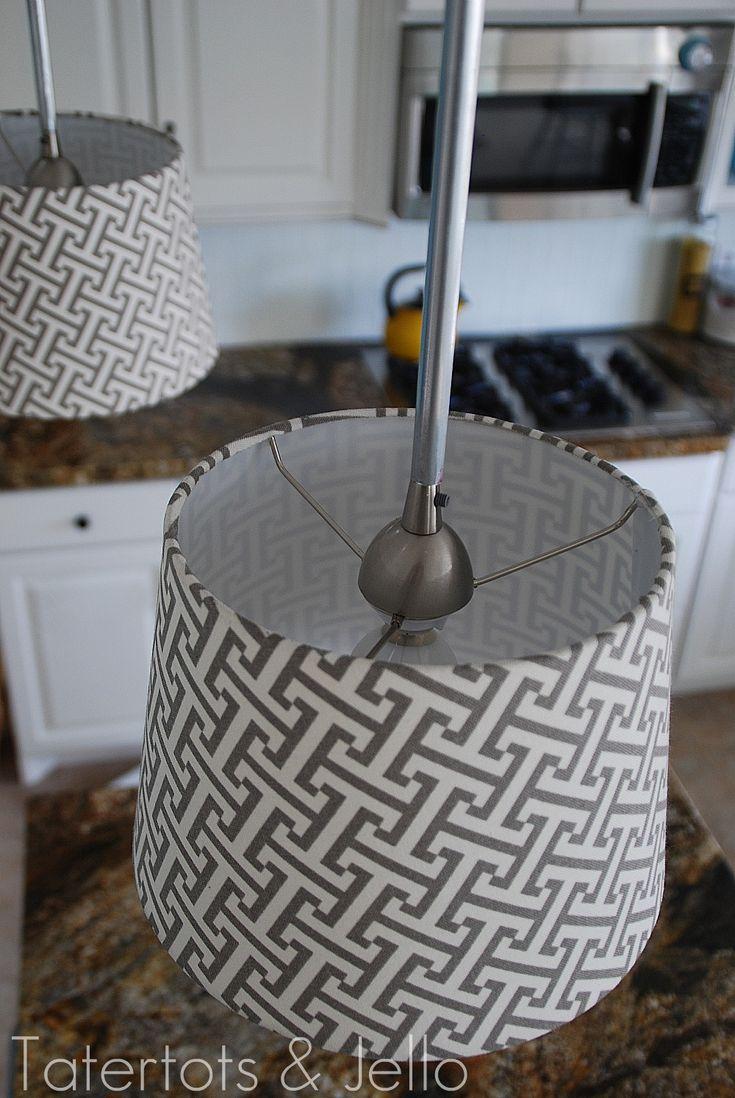 DIY pendant shades... wish I would have seen this before Josh and I spent oh 30 bucks a piece on new fixtures for the kitchen.