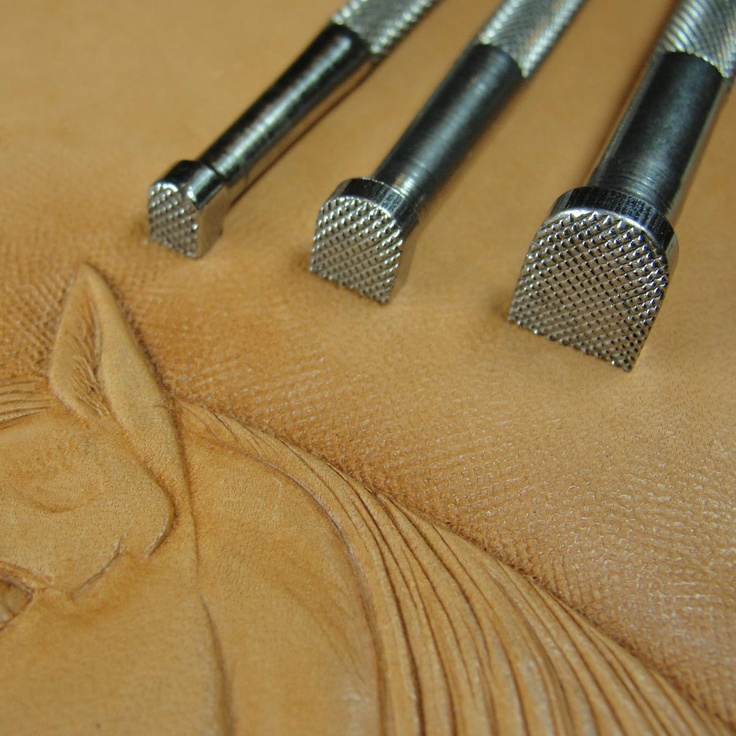 vintage leather stamping tools. early craftool company leather stamping tools - 898/899/900 matting set (3 vintage s