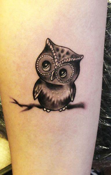 Cute Owl -  Tattoo Artist - Radu Rusu Tattoo