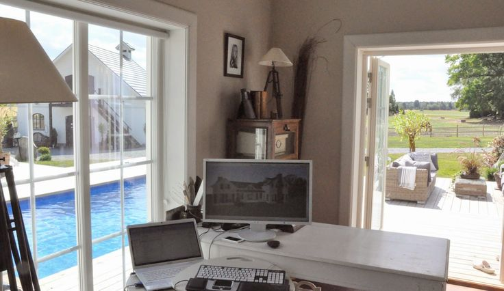 Den Vita Drömgården: Mitt kontor har högt i tak