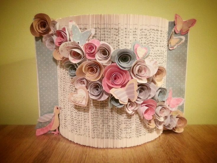 Floral pastels butterflies gift folded book www.facebook.com/throughthegardengateart