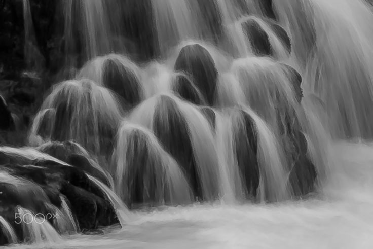 bruarfoss - detail of the magic waterfall bruarfoss in the south of iceland