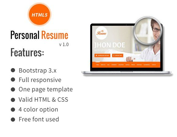 The 25+ best Personal resume ideas on Pinterest Creative cv - html resume templates