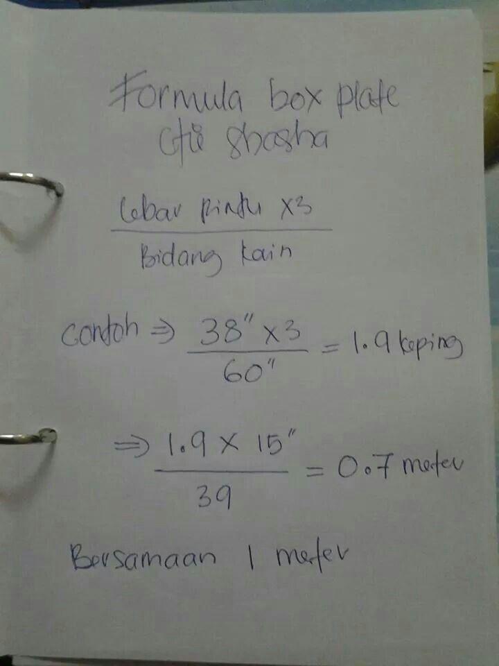 Formula box pleate