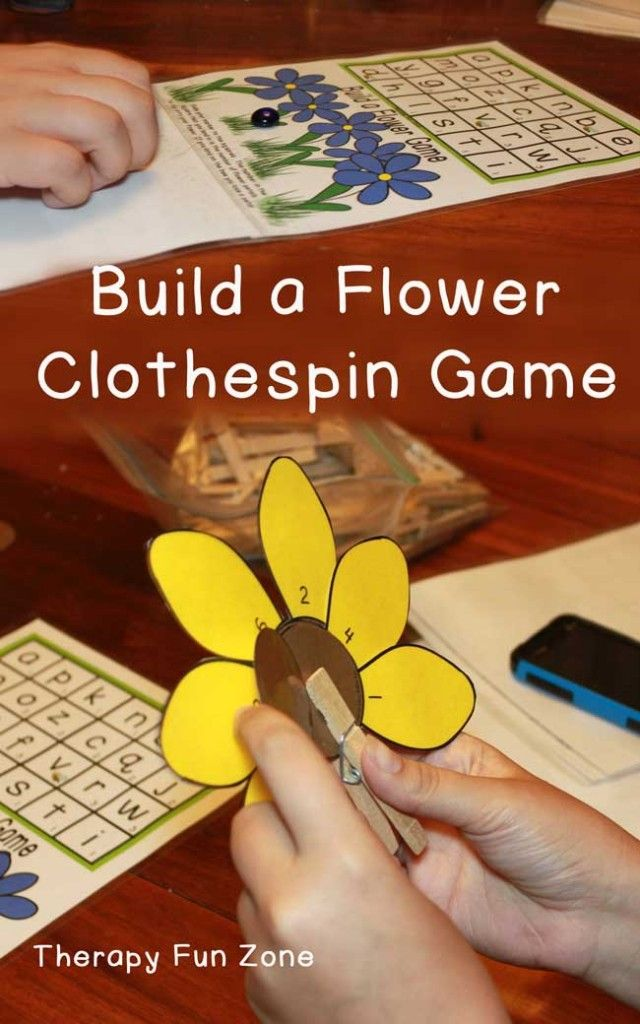 It is time for spring and flowers, so how about a new clothespin game where you have to build the flower petal by petal and use the clothespin to hold the petals onto the flower. There are several different ways to play the game. The most simple way is to shoot the flat marble down the grid and land on a square. The number in the square tells you how many flower petals you can put on your flower. If  {Read More}