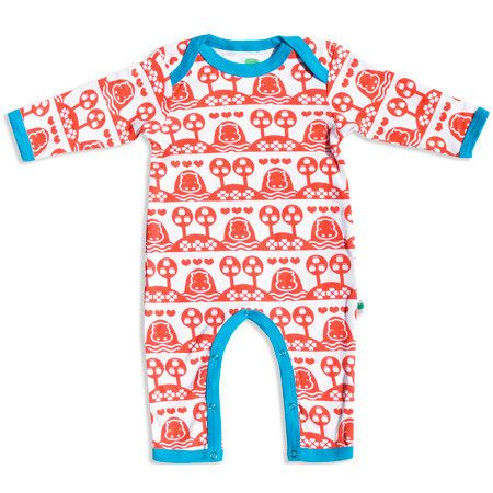 Red Hippo Jumpsuit - ittikid • Scandinavian Children's Clothes - Scandinavian Baby and Kids Clothes   Organic Eco Friendly Kids Clothes from Smafolk, Maxomorra, Duns Sweden, Sture & Lisa