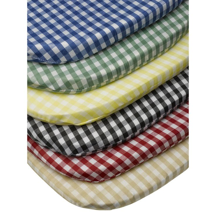 These traditional gingham check seat pads provide that extra layer of comfort to your kitchen, dining room or garden chairs and are available in a range of colours to suit your decor.