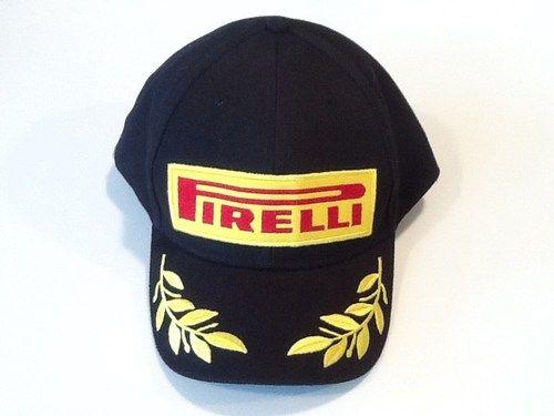 PIRELLI F1 OFFICIAL PODIUM BASEBALL HAT CAP BRAND NEW Embroidered Black