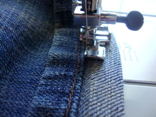Hemming jeans - love this technique!