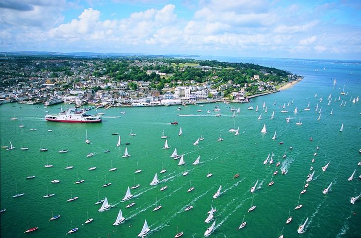 east cowes isle of wight.  Cowes week every August, amazing sight