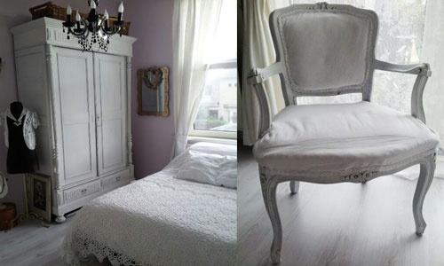 Romantische slaapkamer #bedroom #binnenkijken #brocante