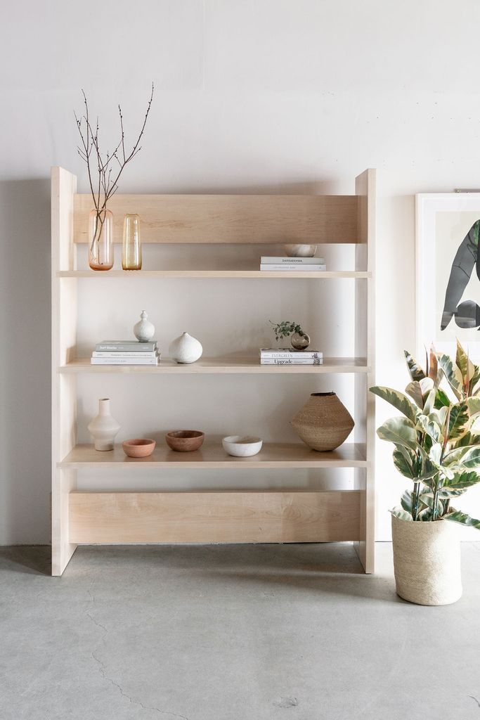 Carter Bookcase With Images Modern Wood Furniture Handmade
