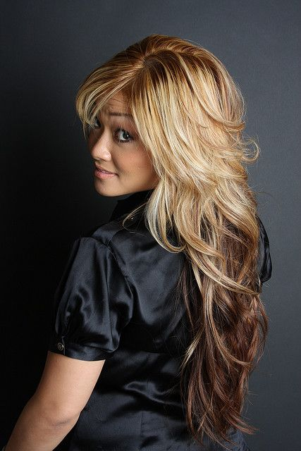 cut your hair with all these layers, you can pull it off soo amazingly with your thick hair and it would make it super manageable! @Heather Creswell Ellertson