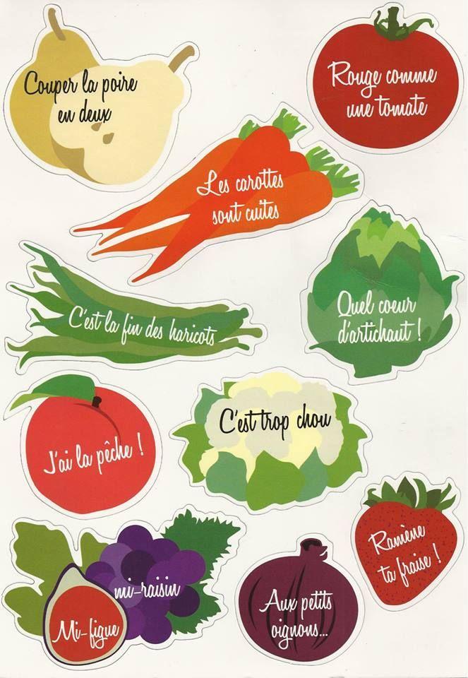 Food expressions avec des fruits et des légumes