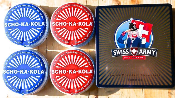 Немецкий шоколад SCHO-KA-KOLA и швейцарский шоколад SWISS ARMY Моё м...