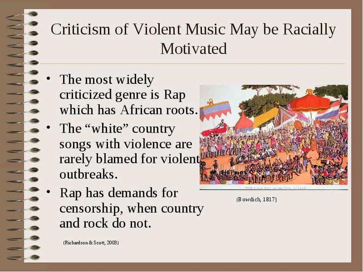 effects of violent rap music Does music affect human behavior research into the effects of music and behavior and according to to rap music daily are more prone to violence and.