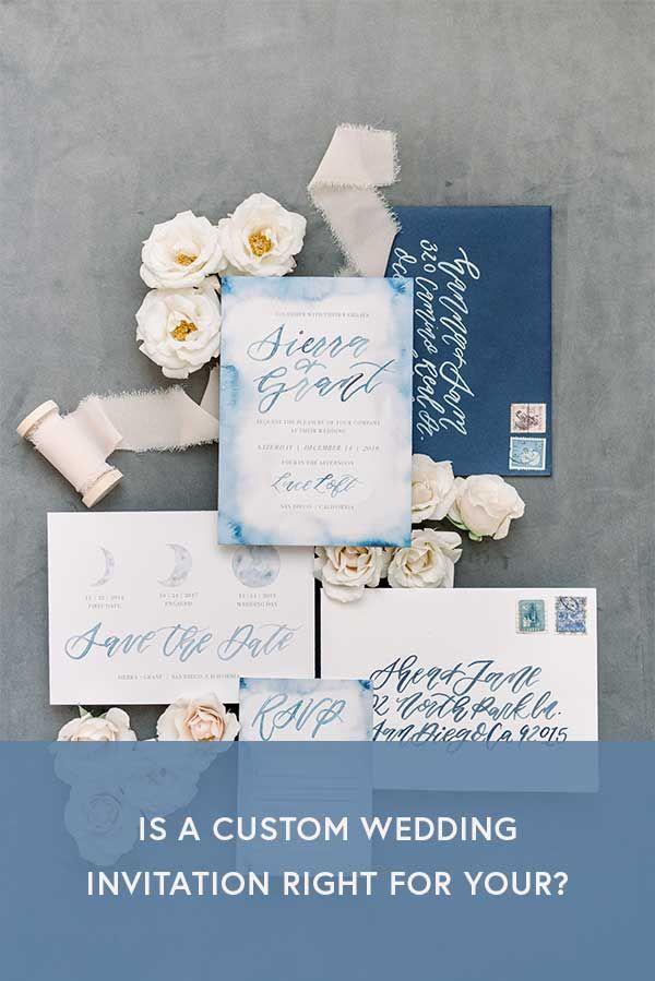 Should You Go Custom With Your Invitation Suite Unique Wedding Invitations Invitations Wedding Invitations Boho