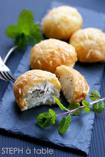 stephatable: Gougères au fromage ...et la recette qui troue