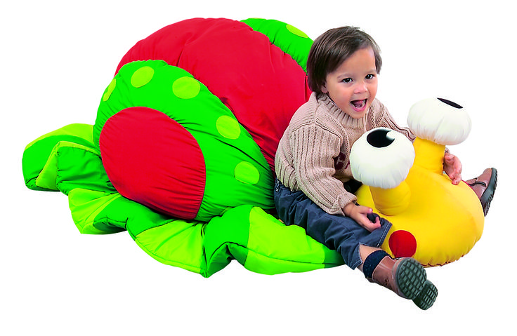 """""""Sidney the Snail"""" Giant Floor Cushion from #Wesco. Perfect for any #playroom or child's bedroom!"""