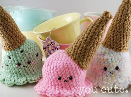Amigurumi Dropped Ice Cream Cone pattern by You Cute ...