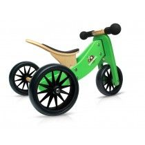 Kinderfeets - Tiny Tot Green 2-in-1 Balance Bike and Tricycle