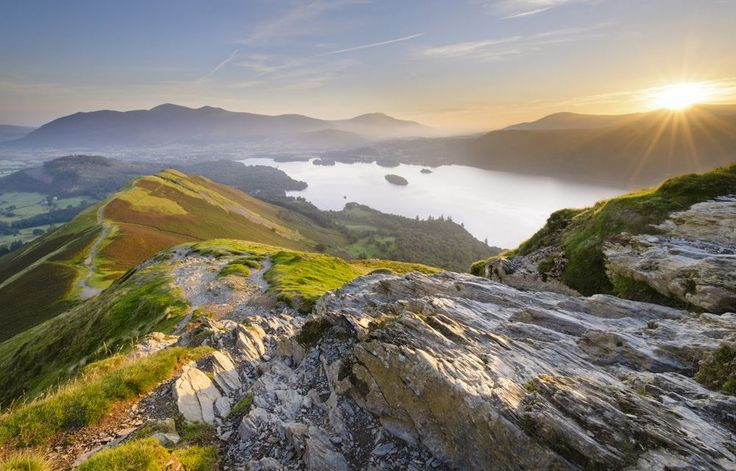 Catbells, Cumbria.    Sat up here at sunrise this Summer *sigh*