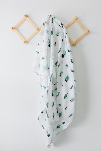 Mebie Baby Cactus Basket Swaddle Blanket