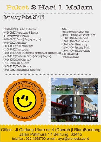 Wisata tour belitung 2D1N