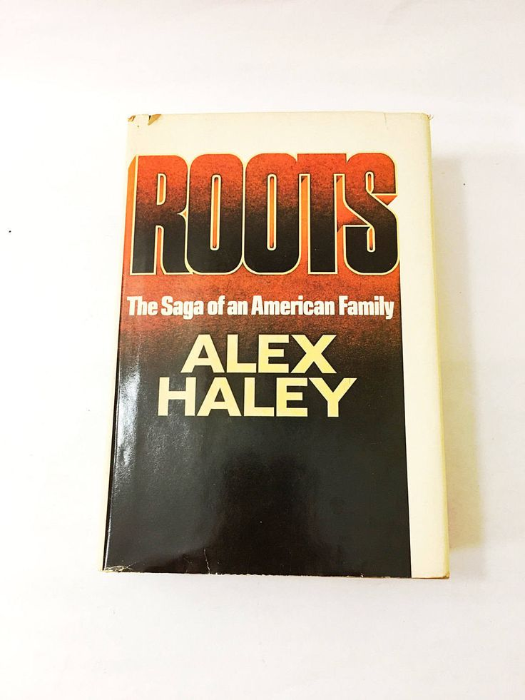 Roots book by Alex Haley. FIRST EDITION. Vintage hardback book with dust jacket circa 1976. Kunta Kinte, slavery, black Americans.