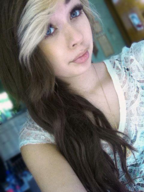 Blonde Bangs Brown Hair Wavy Hair Blonde Bangs