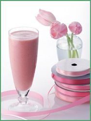 shake: Passion Pink, Fun Recipes, Ice Cubes, Pink Ribbons, Pink Smoothie, Smoothie Recipes, Healthy Recipes, Healthy Smoothie, Breakfast Smoothie