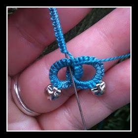 Interlocking chains tutorial   needle tatting