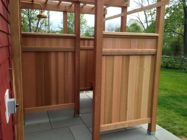 Deluxe Outdoor Shower Dining Room, Prefab Outdoor Shower Enclosures