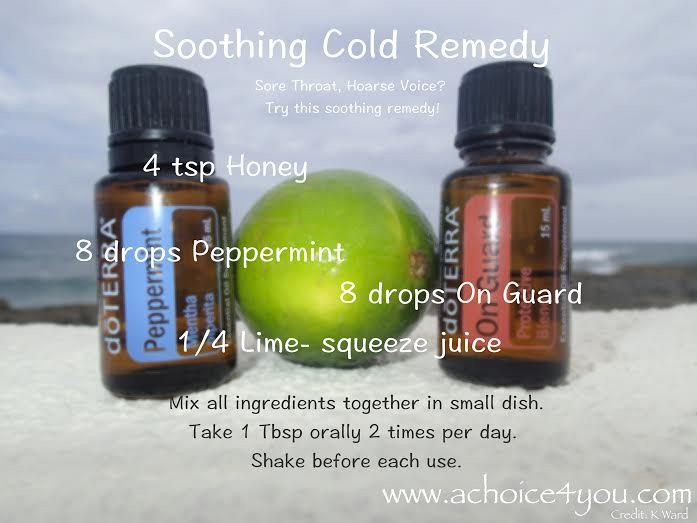 Coughs, strep throat, colds, loss of voice, sore throat... KER POW! Natural honey, lime DoTerra On Guard and Peppermint will have you feeling tip top in no time! You can also follow up with 1 tea spoon of coconut oil for MAX effect!