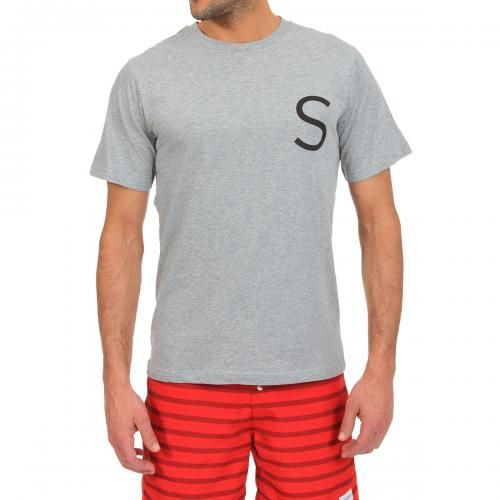 COTTON T-SHIRT WITH PRINTED CHEST LOGO S Chest plain cotton T-shirt featuring a round neck, short sleeves, contrasting Saturdays Surf NYC logo printed on the chest. COMPOSITION: 100% COTTON. Our model wears size L, he is 189 cm tall and weighs 86 Kg.