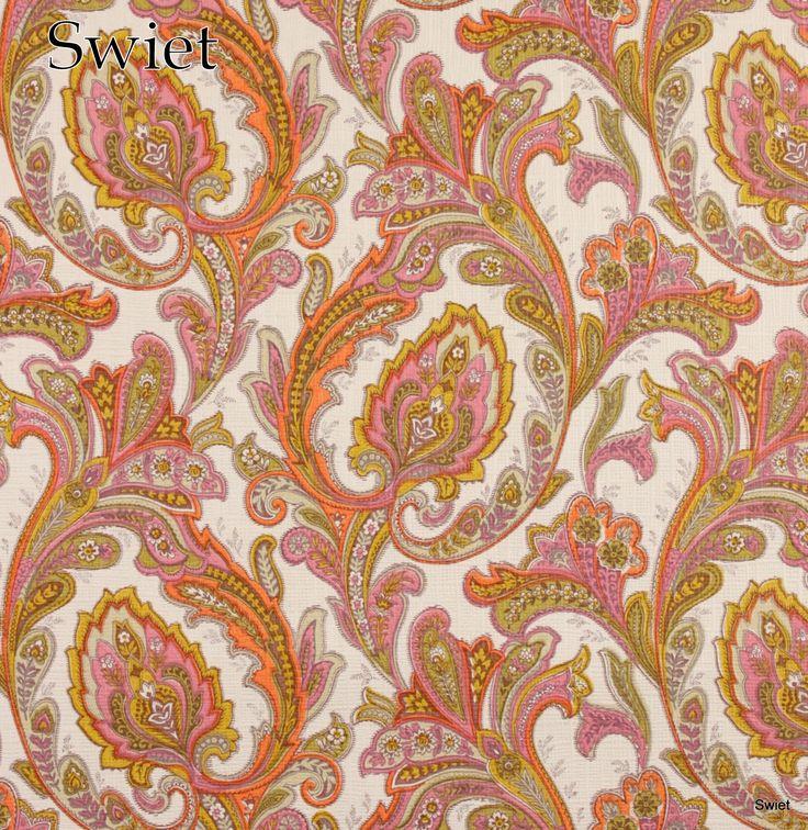 Vrolijk gekleurd Paisley behang