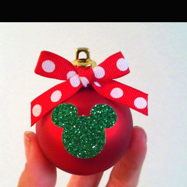 Minnie Mouse Christmas Ornament that I made for my daughter's Christmas tree