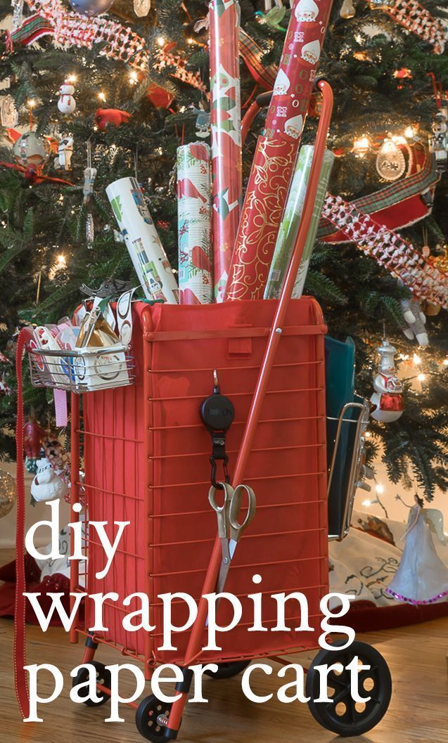 Make A Wrapping Paper Organizer Cart Christmas Gift Ideas