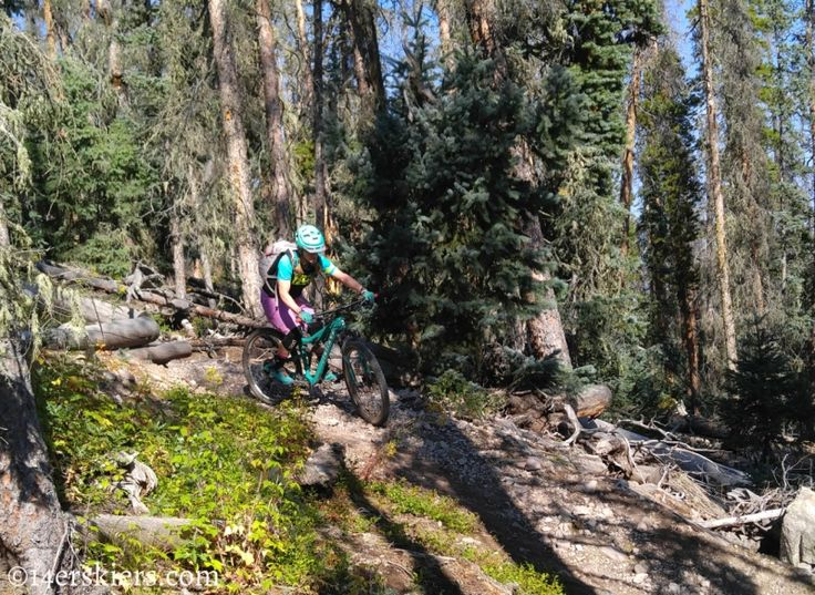 Mountain biking Colorado Trail Segment 17 to Big Bend
