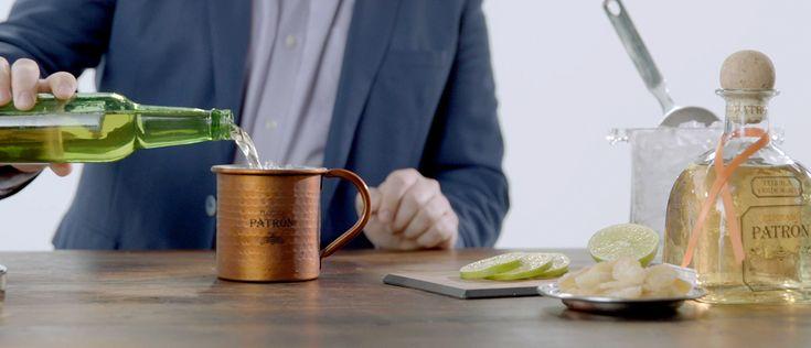 Let Head @Patron Bartender David Alan show you How to Make a Jalisco Mule with Patrón Reposado. #SimplyPerfect