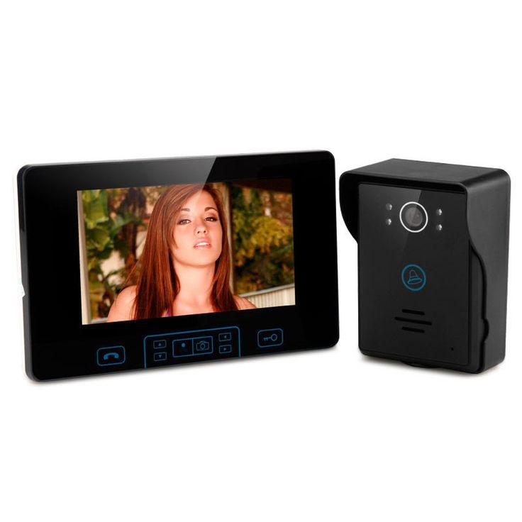 Wireless Video Door Phone - 7 Inch Digital TFT Screen, 2.4GHz Wireless, 2 to 5 M #Unbranded